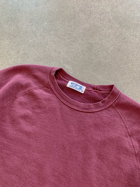 Velva Sheen Pigment Dyed Sweatshirt - Burgundy