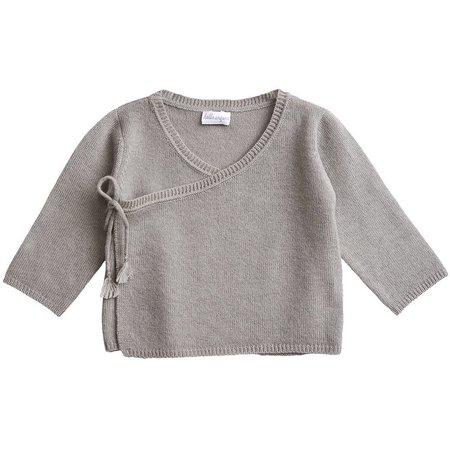 kids belle enfant wrap top - cloud grey