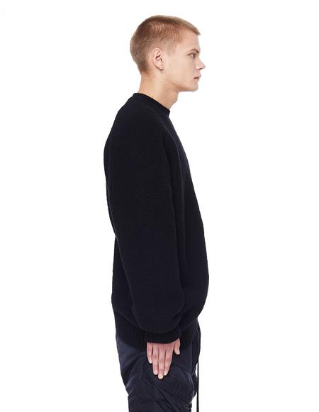 Julius Acymmetric Wool Sweater - Black
