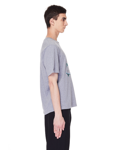 Golden Goose Printed Cotton T-Shirt - Grey