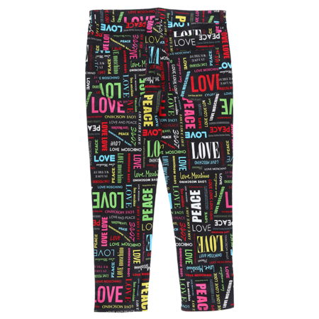Moschino All Over Logo Pants - Black/Multi