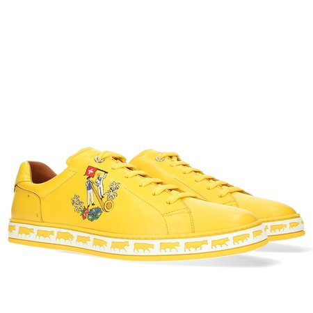 BALLY Anistern Leather Low Top Sneaker - Canary Yellow