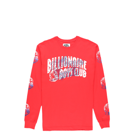 Billionaire Boys Club Arch Script Long Sleeve T-Shirt - High Risk Red