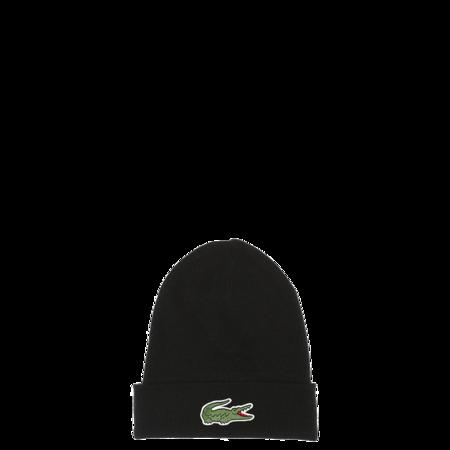 Lacoste Big Croc Beanie - Black