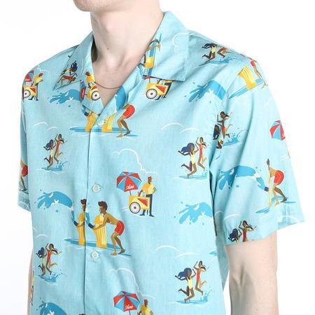 Aimé Leon Dore Block Party Leisure Shirt - Tropical Green