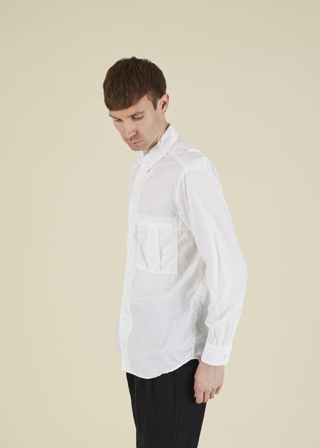 Sage de Cret Pleated Pocket Shirt - Off White
