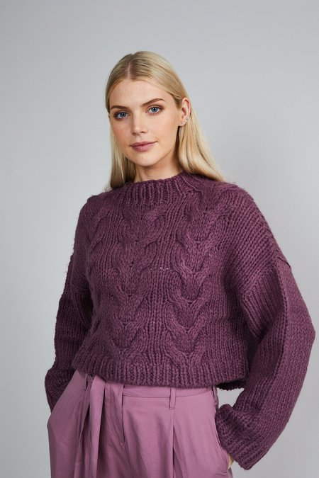 Native Youth The Belle Knit Sweater - Dusty Purple