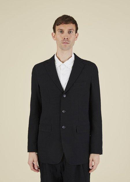 Sage de Cret Textured Stripe Blazer - black
