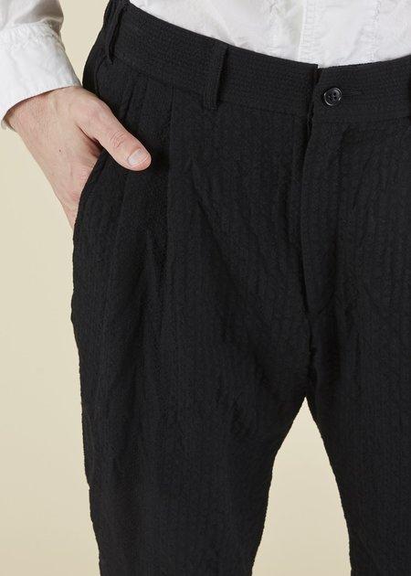 Sage de Cret Textured Stripe Trouser - black