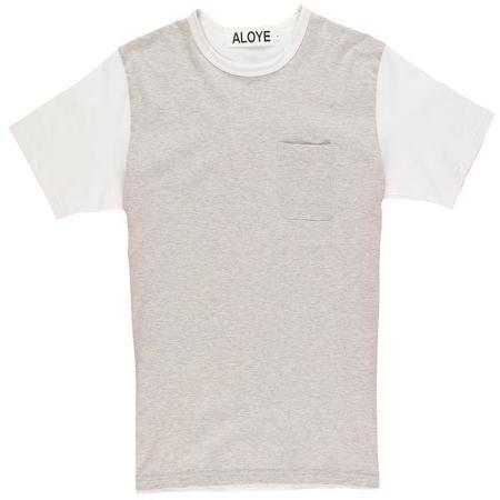 Aloye Color Blocks T-Shirt - Heather Gray/Pink
