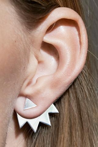 Katrine Kristensen - Sterling Silver Chainsaw Earring Single