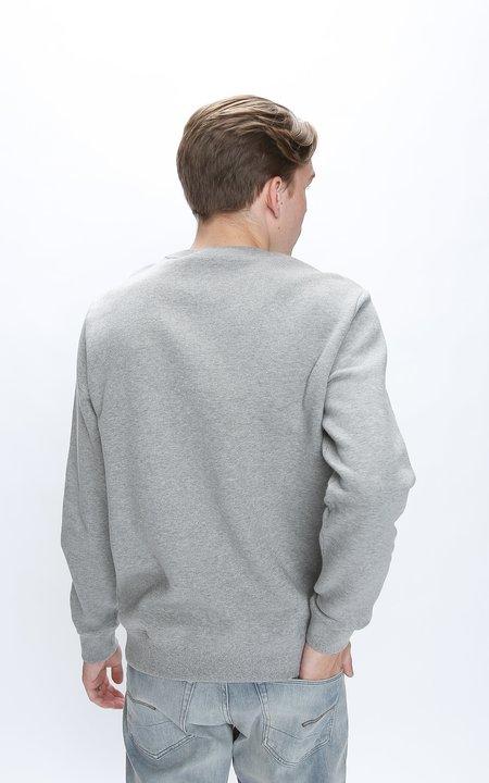 BALLY Embroidered Graphic Crewneck Sweatshirt - Grey