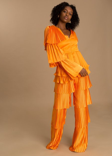 Andrea Iyamah Tami Pants - Orange