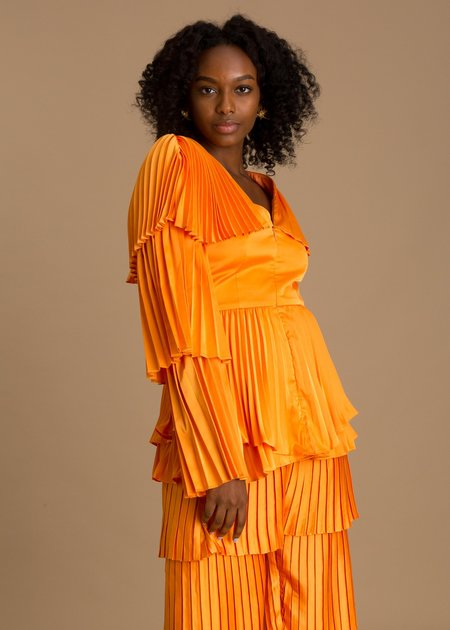 Andrea Iyamah Tami Top - Orange