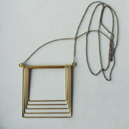 Hellbent Large Square Fade Necklace - Brass