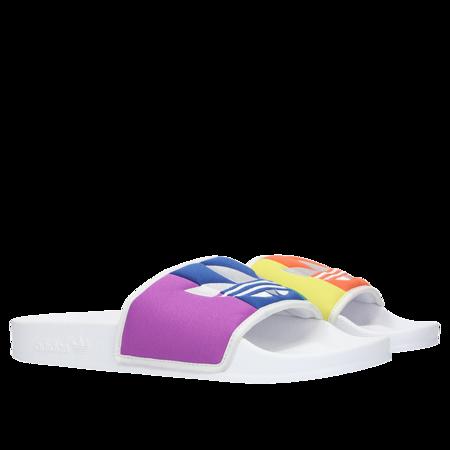 Unisex Adidas Pride 2019 Adilette Slide - White/Multicolor