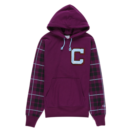 Champion Reverse Weave Plaid Hoodie - Venetian Purple