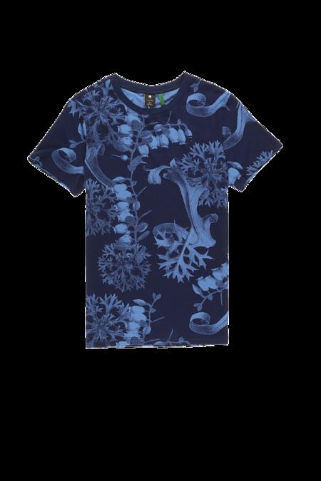 G-Star RAW Rijks Graphic T-Shirt - Dark Delta Blue/Sartho Blue
