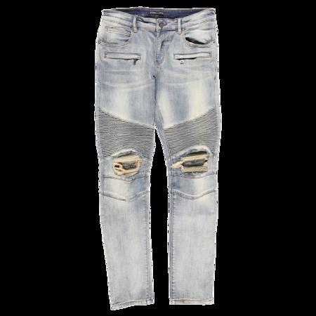 Embellish Sloan Biker Jeans - Washed Blue