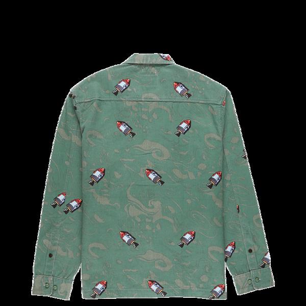 Billionaire Boys Club Space Long Sleeve Woven Shirt - Deep Grass Green
