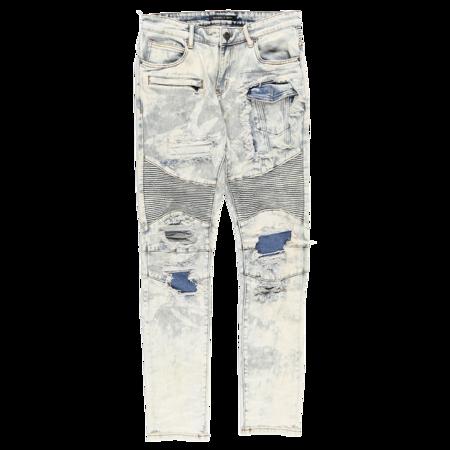 Embellish Van Gundy Biker Jeans - Bleach Wash