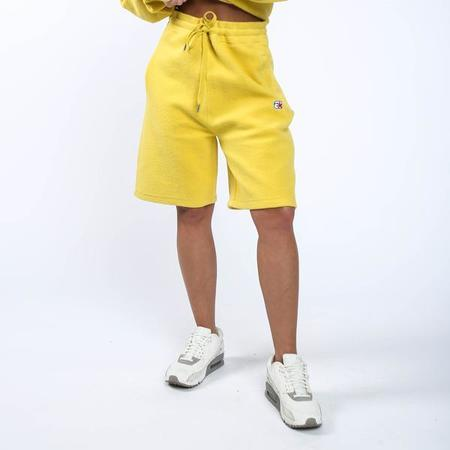 ALEXANDER WANG Heavy French Terry Basketball Shorts - Yellow