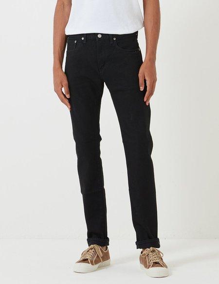 Edwin Kaihara Slim Tapered Selvage 12.5oz Jeans - Black Rinsed