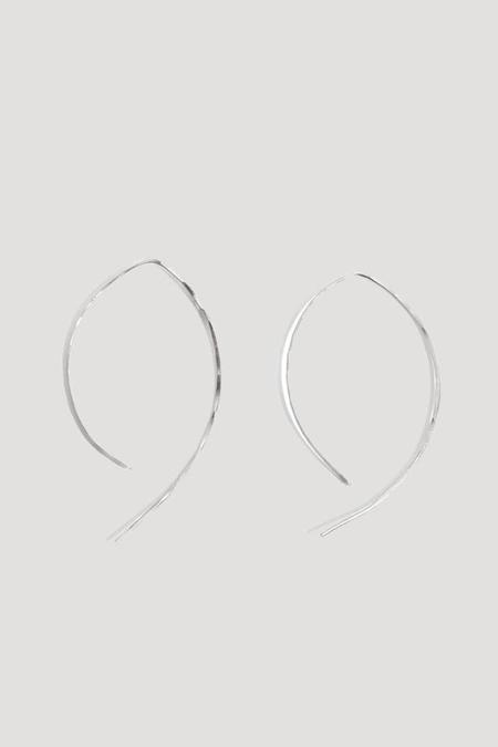 "Melissa Joy Manning 1"" Wishbone Hoop Earrings - Sterling Silver"
