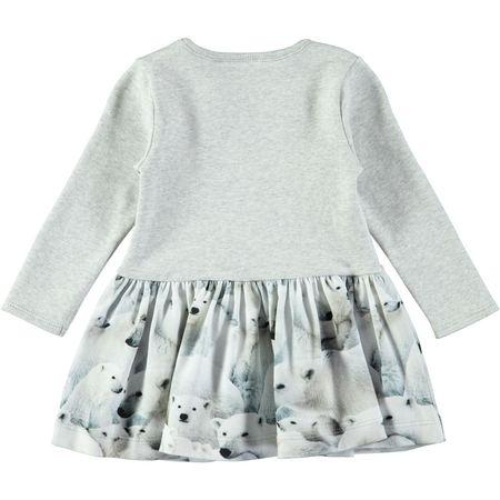 kids molo baby carel polar bear jersey dress