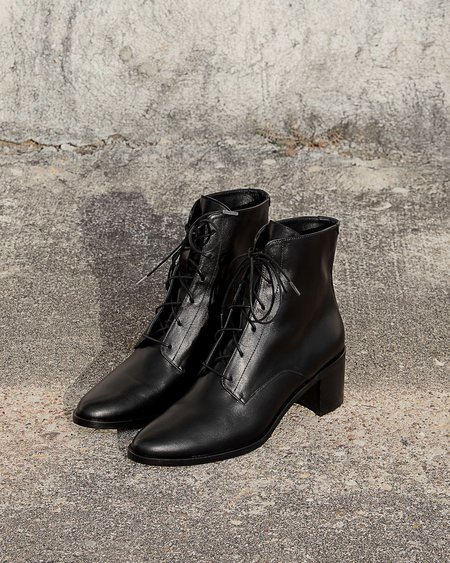 FREDA SALVADOR ACE BOOT - BLACK CALFSKIN