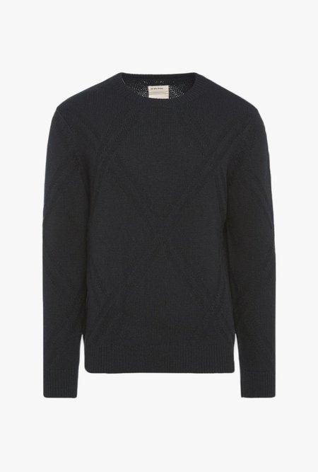 life/after/denim Argyle Crew Sweater - black