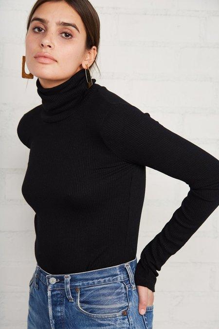 Rachel Pally Finley Rib Sweater Turtleneck - Black