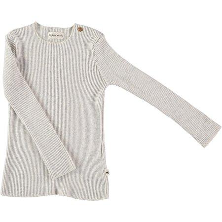 kids my little cozmo jersey rib long sleeve tee - light grey