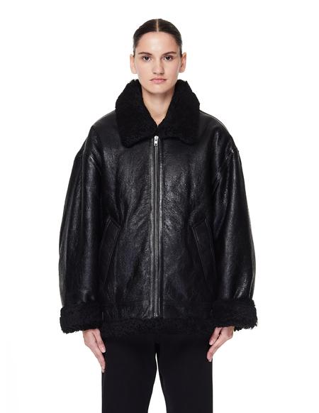 Vetements Shearling Anarchy Jacket - Black