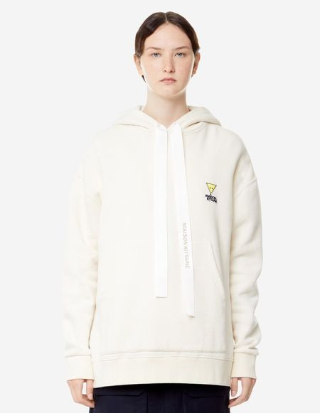 Unisex Kitsune Oversized Hoodie - Off White