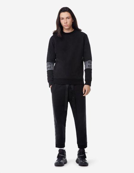 Kitsune Sweatshirt Jacquard Rib - Black