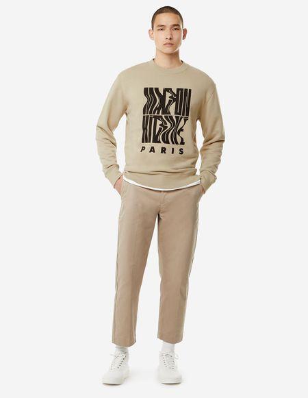 Kitsune Sweatshirt Wavy MK - Beige