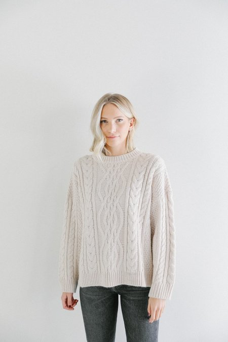 Mijeong Park Oversized Cable Knit Sweater - Cream