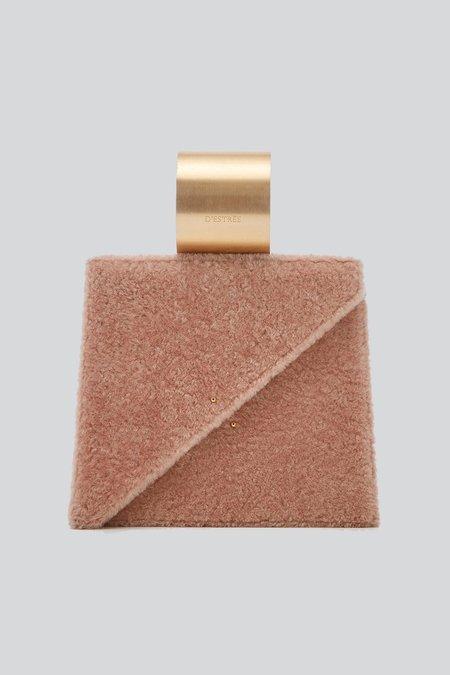 D'estree Shearling Ettore Tote Bag - Pale Pink