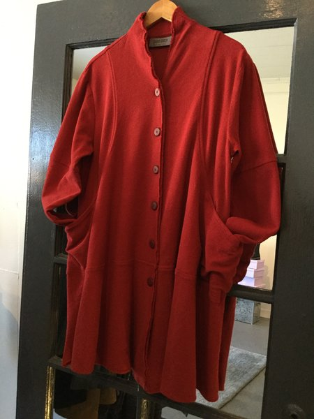 Gerties Knit Coat - Red