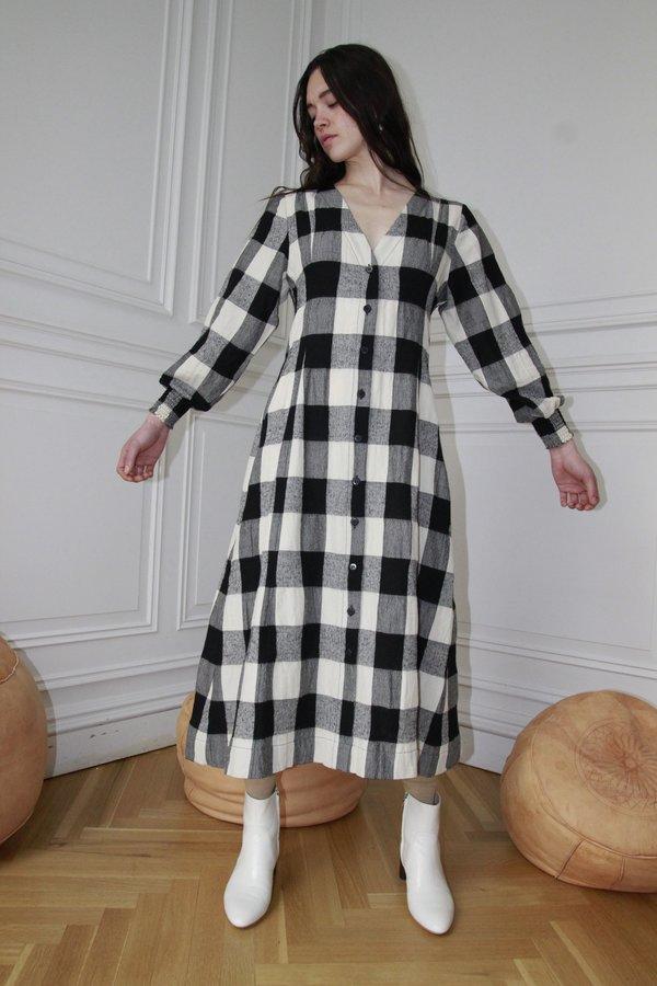 Ajaie Alaie Fluent Love Coat Dress - Chess