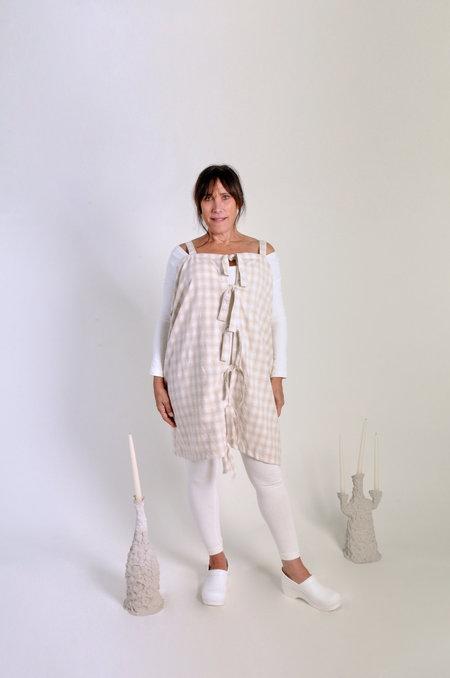 323 Tahini Dress - White