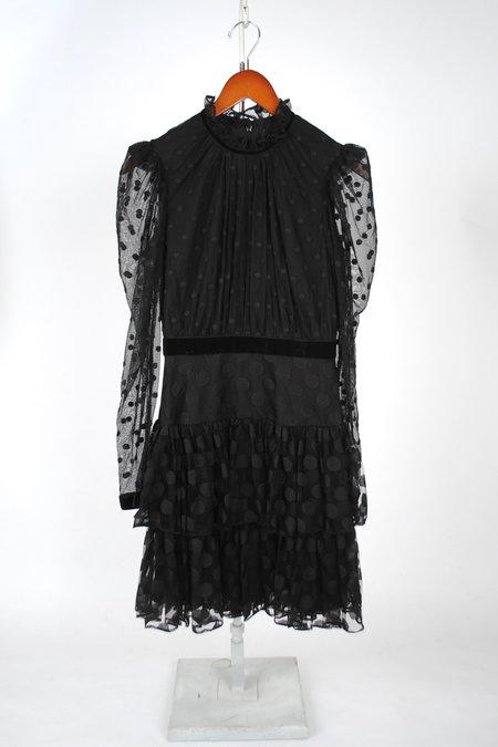 Saloni Ava Dress - Black