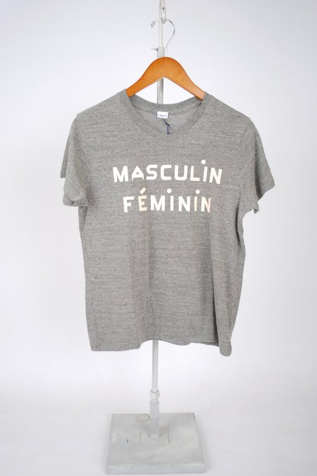 Clare V. Masculin Féminin Camp Fit Tee - Grey