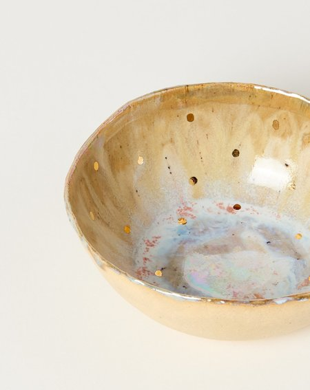 Minh Singer Small Iceland Bowl - Abalone/Gold