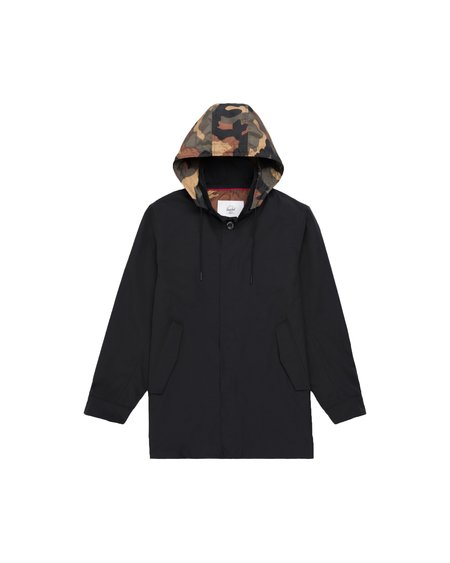 HERSCHEL SUPPLY CO Stowaway Mac Jacket - Black/Woodland Camo