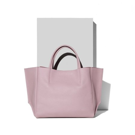 Ampersand as Apostrophe Cameo Half Tote Bag - Pink