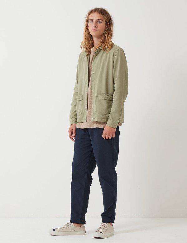 Folk Horizon Jacket - Pale Olive Green