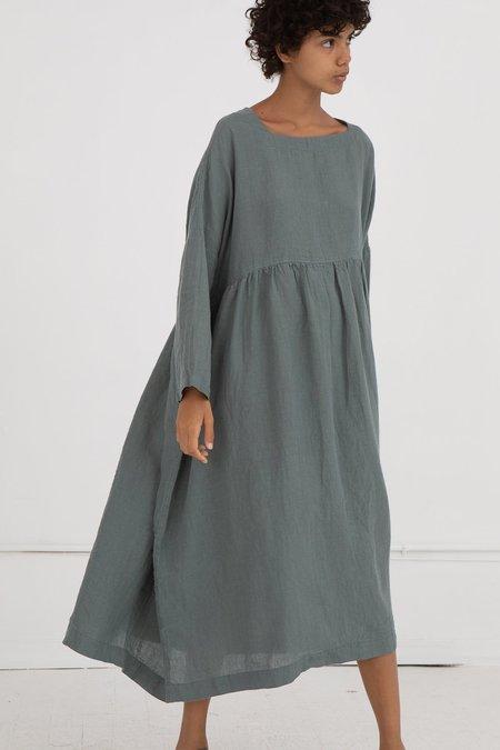 ICHI ANTIQUITES Linen Dress - Green