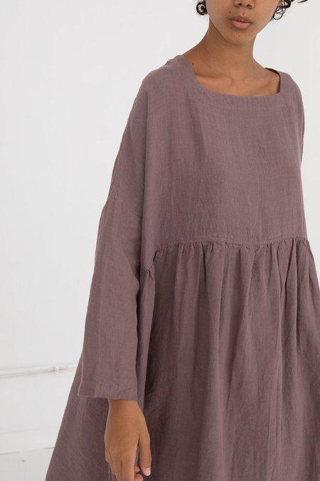 ICHI ANTIQUITES Linen Dress - Purple